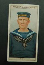 cigarette Tobacco card Wills Naval Dress & Badges 1909 #47 Boy