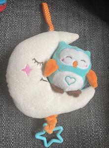 Teeny Wonders Musical Owl & Moon Nursery Hanging Toy - Lullaby - Sleep Aid baby