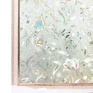 Window Film 3D Static Decoration UV Block Heat Control Privacy Glass Stickers 80