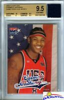 2003/04 Fleer USA Carmelo Anthony ROOKIE+Game Used Olympic Jersey BGS 9.5 GGUM