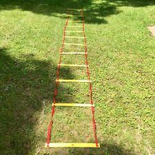Champion Sports Adjustable Single Agility Ladder w/ Carry Bag (Speed Training)