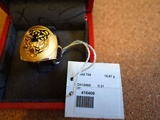 Carrera y Carrera 18k solid yellow gold 'Fieras' Tiger ring US size 9.75