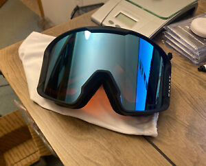 NEW Oakley Line Miner XM Snow Goggles Black  Sapphire Prizm Lens