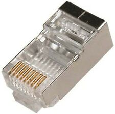 10 pc RJ45 Cat6 Solid SHIELDED Connector