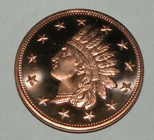 1 OUNCE COPPER .999 INDIAN HEAD  COIN