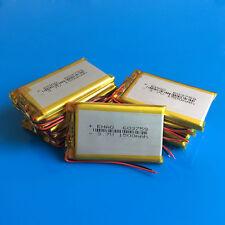 10 pcs 3.7V 1500mAh 603759 Li Po Battery for Camera MP4 MP5 Speaker GPS PSP MID