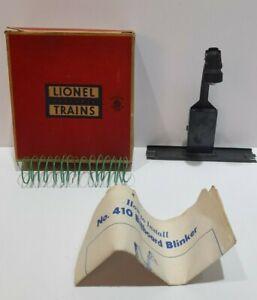 Postwar Lionel #410 Billboard Blinker with Nice Original Box & Instructions