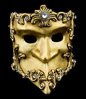 Maschera Di Venezia Bauta Barocco Dorata Autentica Carnevale Veneziano 150