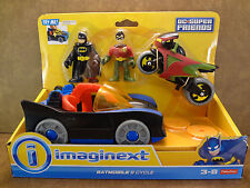 Imaginext DC Batman Batmobile & Robin Cycle New Factory Sealed