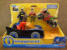 Imaginext DC Batman Batmobile & Robin Cycle New Factory Sealed