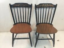 Hitchcock chair co Black/harvest Baltic side Chairs used hitchcock dot com