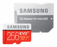 SAMSUNG EVO Plus 256GB MicroSD Micro SDXC C10 Flash Memory Card with Adapter