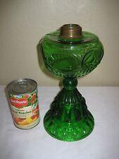 Antique Green Eyewinker Thumbprint W Oval Window Front Kerosene/Oil Lamp
