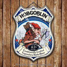 Wychwood Hobgoblin Beer Advertising Old Pub Metal Pump Badge Shield Steel Sign
