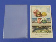 Cartolina Postale Antica 1900 A.Bertiglia Bambini Illustratori da Museo