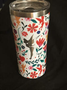 DISNEY Tinker Bell  Floral  TERVIS Stainless TRAVEL MUG  NEW