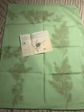 """7929 TRI CHEM PAINT 60"""" X 80"""" PINE CONES BERRIES ON GREEN TABLECLOTH NEEDLEPOINT"""