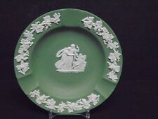 Vintage Wedgewood Green Jasperware Ashtrays (3) Very Good Vntg. Cond