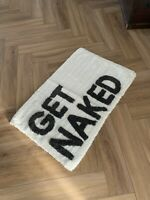 Get Naked Bath Mat , Rug  Monochrome Urban Outfitters RRP £30 30inch X 20inch