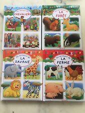 LOT 4 LIVRES LA PETITE IMAGERIE édition FLEURUS LES ANIMAUX DE LA FERME SAVANE +