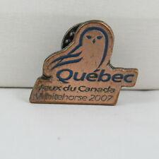 Juex Canada Winter Games Pin - 2007 Whitehorse Yukon - Team Quebec