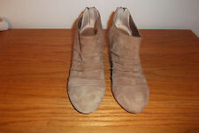 "BCBG PARIS BROWN SUEDE ANKLE WEDGE BOOTS SIZE 7 1/2"" B"