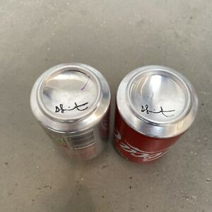 DAMIEN HIRST Signed Coke-Cola Cans Full Set Regular & Diet Gagosian Gallery MINT