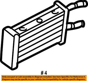 FORD OEM 92-95 E-350 Econoline Club Wagon-Heater Core F2UZ18476B