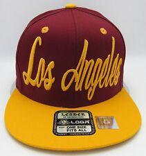LA City LOS ANGELES CA Snapback Cap Hat Cali Kings Lakers Dodgers USC Trojans