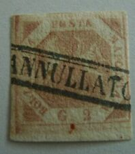 ITALIAN STATES NAPLES TWO SICILIES # 3 USED FIRST  TABLE GENUINE  LOT 3
