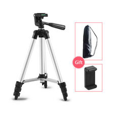 130cm Camera Tripod 4sec+Cell Phone Holder Stand Mount for iPhone Samsung Huawei