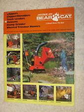 Bear Cat Chippers, Shredders, Vacuums, Mowers, Stump Grinders 20 Page Brochure