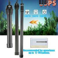 100/300/500W LED Submersible Water Heater Heating Rod Aquarium Fish Tank 110V