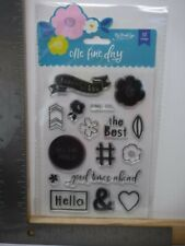 MY MIND'S EYE ONE FINE DAY FLOWERS HELLO THE BEST CLEAR STAMP SET NEW A17187