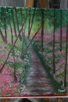 Original Oil Painting by Rozann.   A PATH INTO DREAMS.  24x30