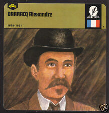 ALEXANDRE DARRACQ French Car Maker BIOGRAPHY PHOTO CARD