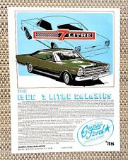 1966 FORD 7 LITRE GALAXIE BIG BLOCK 428 FE ENGINE CAR LITERATURE FACT SHEET 38