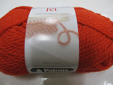 PATONS JET ALPACA/WOOL,8 BALLS 50GR RED,SALE,NO 813,COL DISCONTINUED