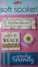 NEW 4 pc BEACH Seaside Serenity By the Shore SOFT SPOKEN 3D Embellishments MAMBI