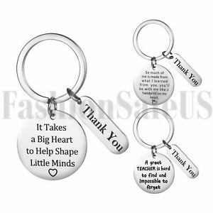 "3pcs Stainless Steel Keychain ""Thank You"" Thanksgiving Teacher's Graduation Gift"