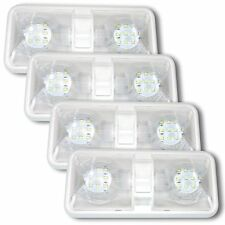 4X NEW RV LED 12v CEILING FIXTURE DOUBLE DOME LIGHT FOR CAMPER TRAILER RV MARINE