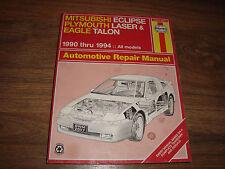 Haynes Mitsubishi Eclipse Plymouth Eagle 1990-94 Automotive Repair Manual 68030