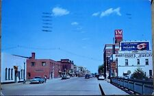 Moorhead, MN 1956 Chrome Postcard: Center Avenue - Minnesota Minn