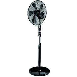ventilateur sur pied 55w 45cm 3 vitesses noir - bestron