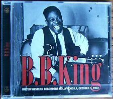 B. B. KING United Western Recorders Hollywood LA 1972 CD (2015) NEW & SEALED