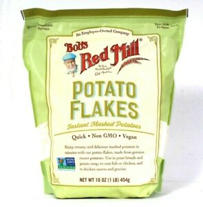 1 Bag Bob's Red Mill 16 Oz Quick Non GMO Potato Flakes Instant Mashed Potatoes