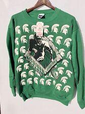 Vintage Dead Stock Tultex Size Large Michigan State Spartans Football Sweatshirt