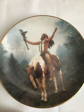 Hamilton Collection Deliverance by Chuck Ren Mystic Warriors Collector Plate