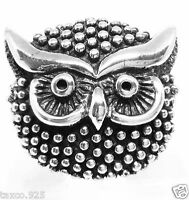 VINTAGE DESIGN MOLINA TAXCO MEXICAN 925 STERLING SILVER OWL RING MEXICO
