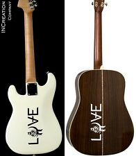 Angels And Airwaves Guitar Vinyl Stickers Love Rock Band Decals Bass Guitar (x2)
